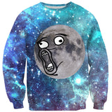 LOL Moon Face Sweater-Shelfies-| All-Over-Print Everywhere - Designed to Make You Smile