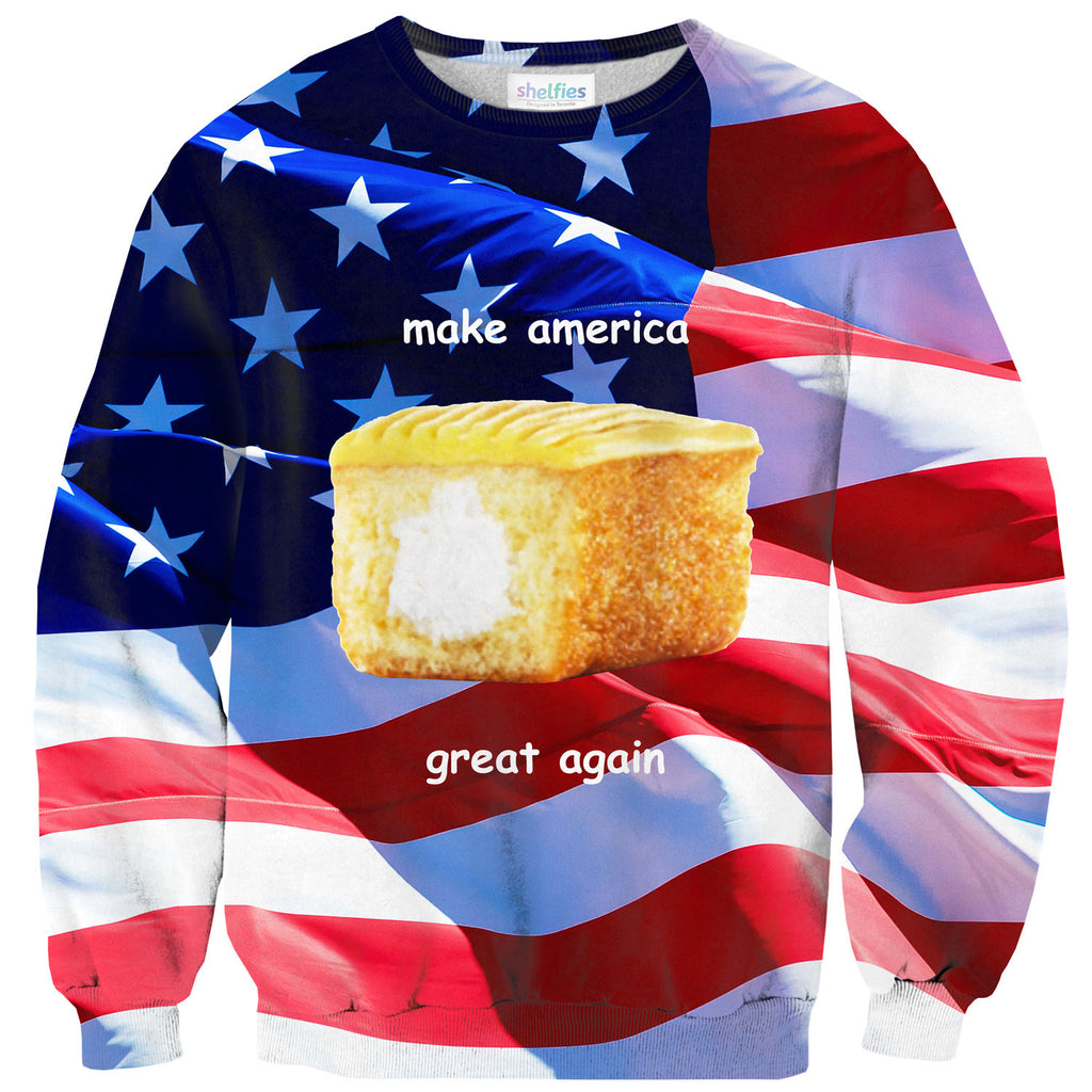 Make Snacks Great Again Sweater-Shelfies-| All-Over-Print Everywhere - Designed to Make You Smile