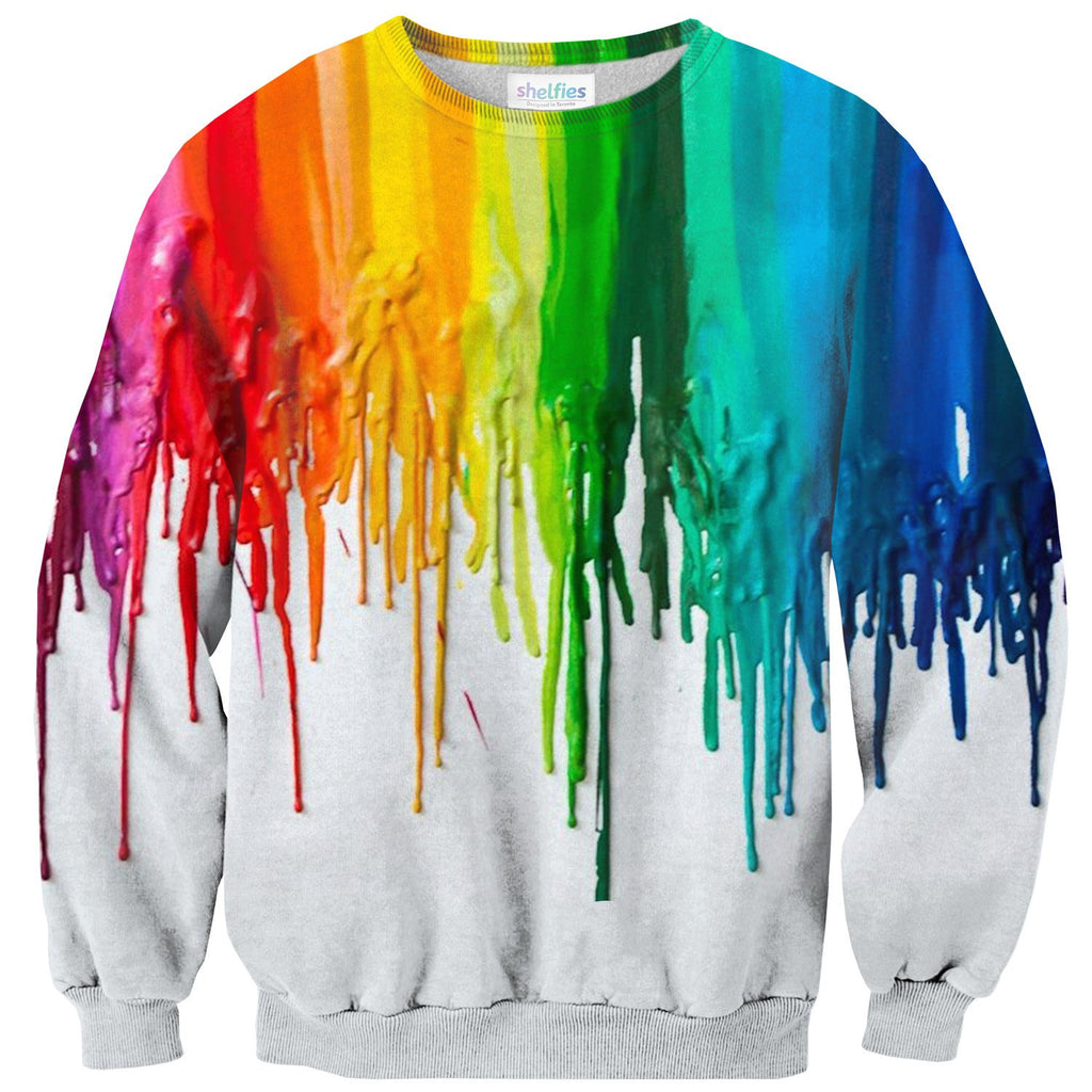 Melted Crayon Sweater-Subliminator-| All-Over-Print Everywhere - Designed to Make You Smile