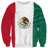 Mexican Flag Sweater-Subliminator-| All-Over-Print Everywhere - Designed to Make You Smile