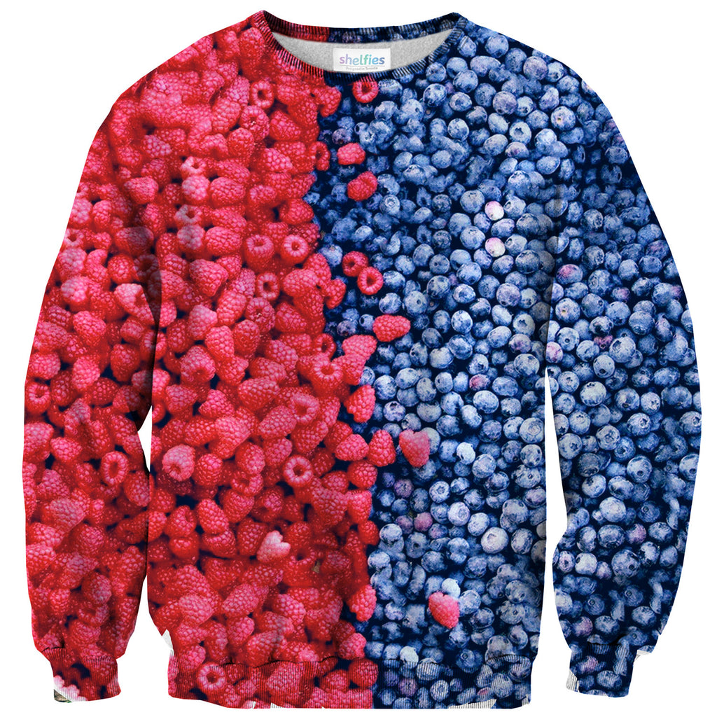 Mixed Berries Sweater - Shelfies | All-Over-Print Everywhere - Designed to Make You Smile