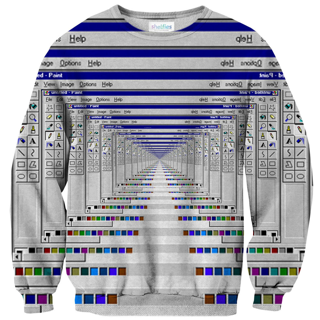 MS Paint Sweater-Subliminator-| All-Over-Print Everywhere - Designed to Make You Smile
