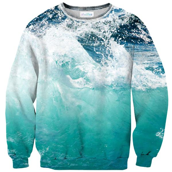 Ocean Wave Sweater-Subliminator-| All-Over-Print Everywhere - Designed to Make You Smile