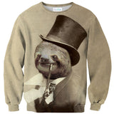 Old Money Flows Sloth Sweater-Subliminator-| All-Over-Print Everywhere - Designed to Make You Smile