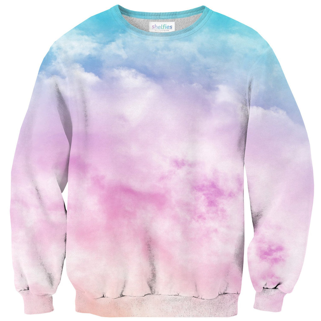 Pastel Clouds Sweater-Subliminator-| All-Over-Print Everywhere - Designed to Make You Smile