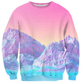 Pastel Mountains Sweater-Subliminator-| All-Over-Print Everywhere - Designed to Make You Smile