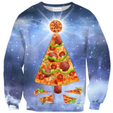 Pizza Christmas Tree Sweater-Shelfies-| All-Over-Print Everywhere - Designed to Make You Smile