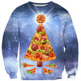 Sweatshirts - Pizza Christmas Tree Sweater