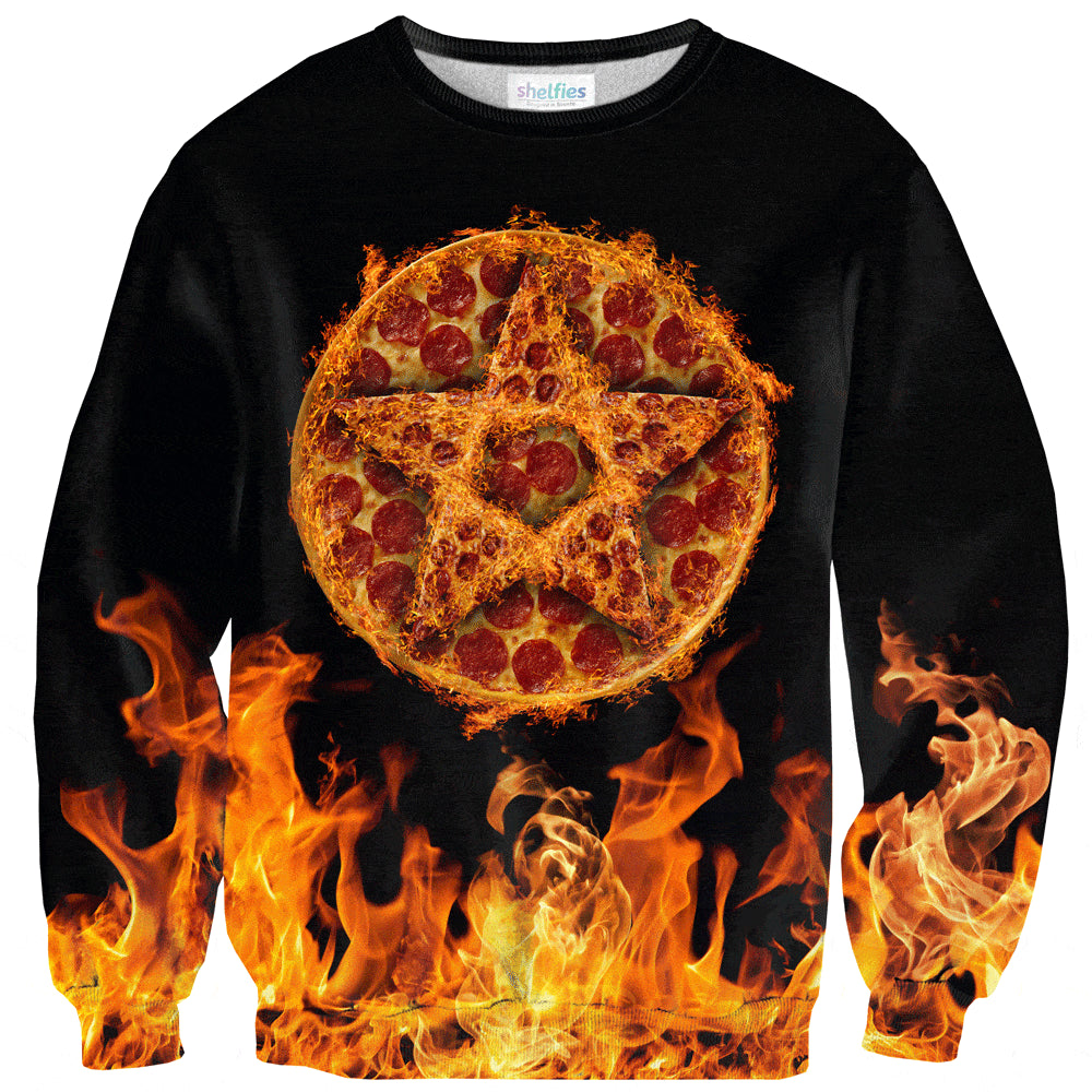 Pizza Summoning Sweater-Shelfies-XS-| All-Over-Print Everywhere - Designed to Make You Smile