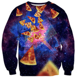 Pizza Vortex Sweater - Shelfies | All-Over-Print Everywhere - Designed to Make You Smile