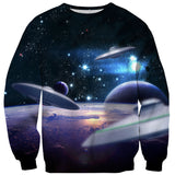 Planetary Intergalactic Sweater-Shelfies-| All-Over-Print Everywhere - Designed to Make You Smile