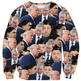Political Man Buns Invasion Sweater-Shelfies-| All-Over-Print Everywhere - Designed to Make You Smile