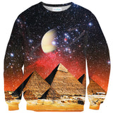 Galactic Pyramids Sweater-Shelfies-| All-Over-Print Everywhere - Designed to Make You Smile