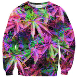 Rainbow Weed Sweater-Shelfies-| All-Over-Print Everywhere - Designed to Make You Smile