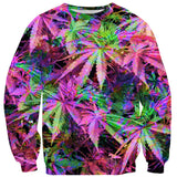Sweatshirts - Rainbow Weed Sweater