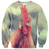 Time for Cock Rooster Sweater-Shelfies-| All-Over-Print Everywhere - Designed to Make You Smile