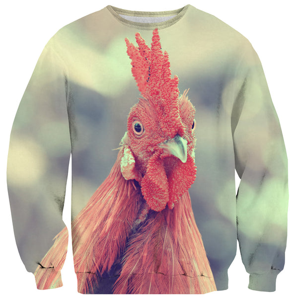 Time for Cock Rooster Sweater-Shelfies-XS-| All-Over-Print Everywhere - Designed to Make You Smile