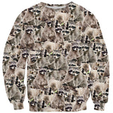 "Raccoon ""Trash Panda"" Invasion Sweater-Subliminator-