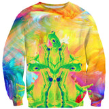 Trippin' Froggy Frog Sweater - Shelfies | All-Over-Print Everywhere - Designed to Make You Smile