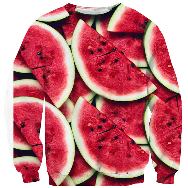 Watermelon Invasion Sweater-Shelfies-| All-Over-Print Everywhere - Designed to Make You Smile