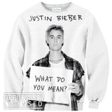 Sweatshirts - What Do You Mean Justin Bieber Sweater