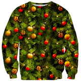 X-Mass Tree Sweater-Shelfies-| All-Over-Print Everywhere - Designed to Make You Smile