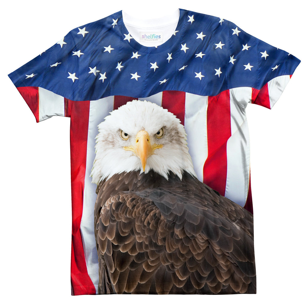 Bald Eagle T-Shirt-Shelfies-| All-Over-Print Everywhere - Designed to Make You Smile