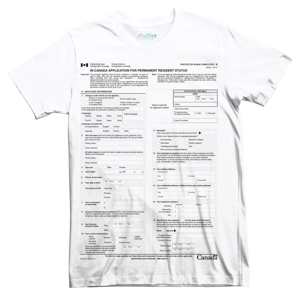 T-Shirts - Canadian Immigration Form T-Shirt