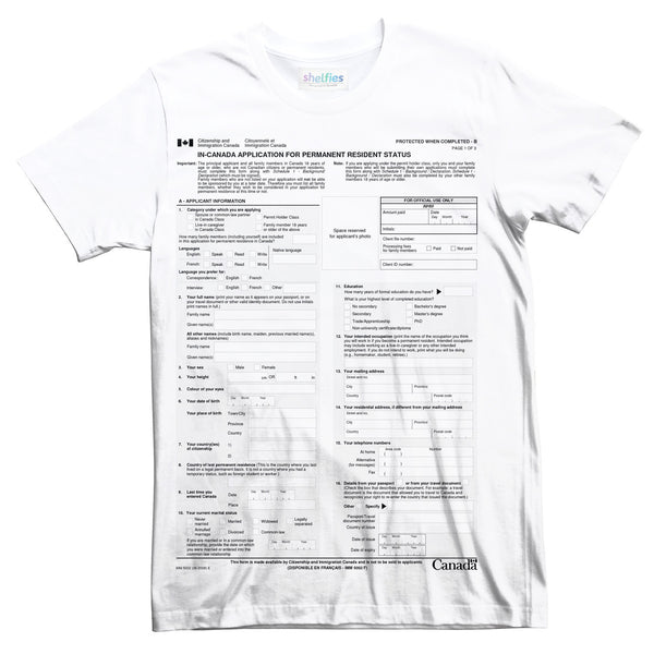 Canadian Immigration Form T-Shirt-kite.ly-| All-Over-Print Everywhere - Designed to Make You Smile