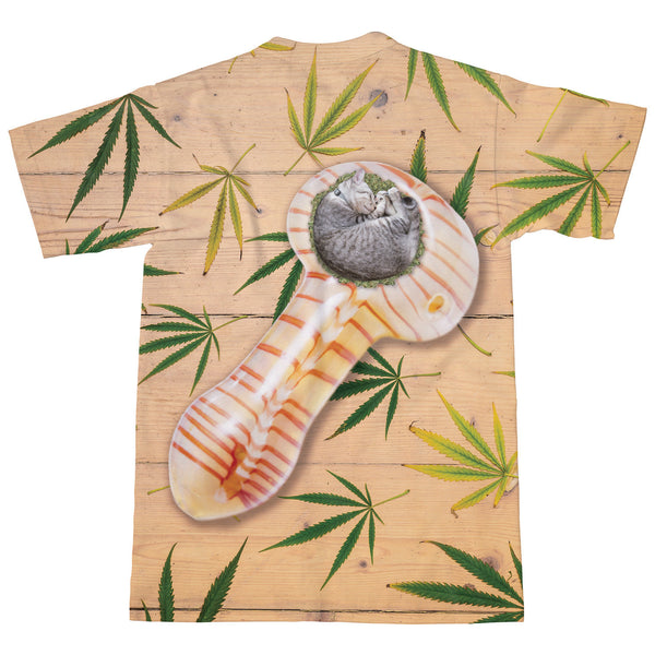 Cat Pipe T-Shirt-kite.ly-| All-Over-Print Everywhere - Designed to Make You Smile