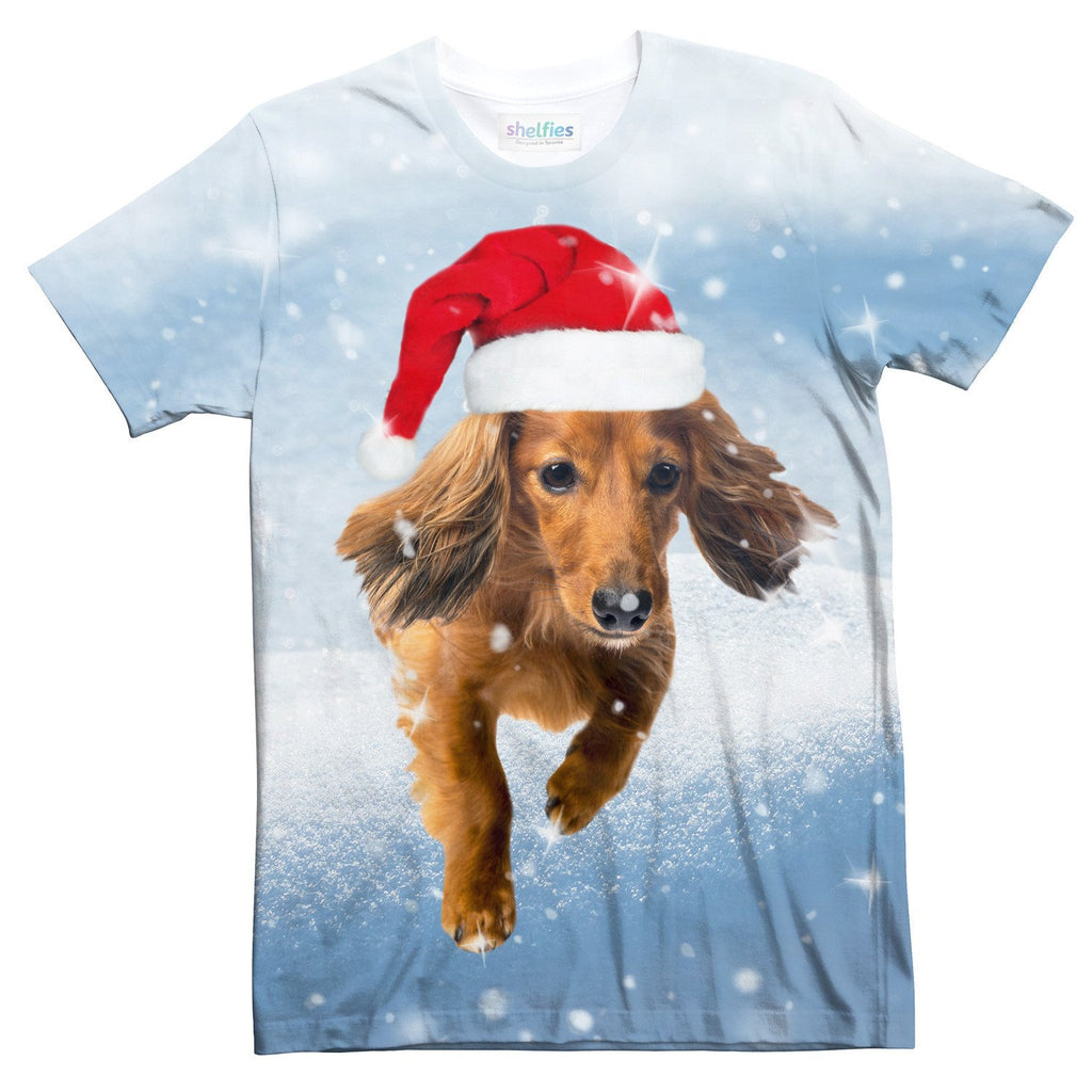 Dachshund Through the Snow T-Shirt-Subliminator-| All-Over-Print Everywhere - Designed to Make You Smile