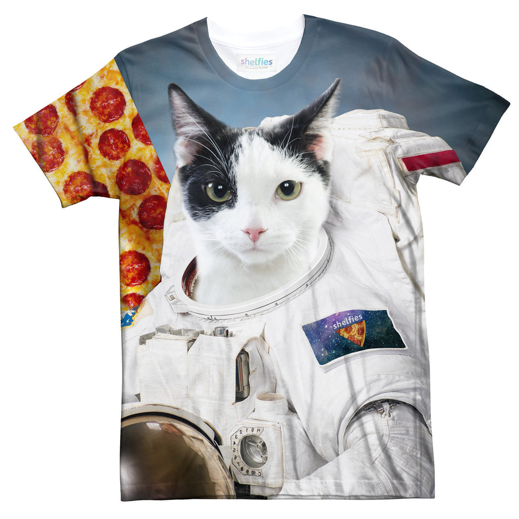 First Cat on the Moon T-Shirt-Shelfies-| All-Over-Print Everywhere - Designed to Make You Smile