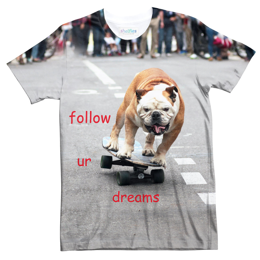 Follow Ur Dreams T-Shirt-kite.ly-| All-Over-Print Everywhere - Designed to Make You Smile