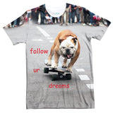 Follow Ur Dreams T-Shirt-Shelfies-| All-Over-Print Everywhere - Designed to Make You Smile