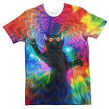 Galactic Space Kitty Kat T-Shirt-Shelfies-| All-Over-Print Everywhere - Designed to Make You Smile