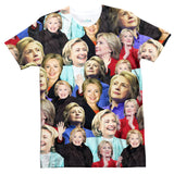Hillary Clinton Face T-Shirt-Subliminator-| All-Over-Print Everywhere - Designed to Make You Smile