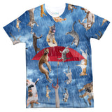 It's Raining Cats And Dogs T-Shirt-Shelfies-| All-Over-Print Everywhere - Designed to Make You Smile