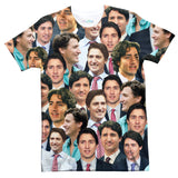 Justin Trudeau Face T-Shirt-Shelfies-| All-Over-Print Everywhere - Designed to Make You Smile