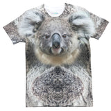 Koala Face T-Shirt-Shelfies-| All-Over-Print Everywhere - Designed to Make You Smile