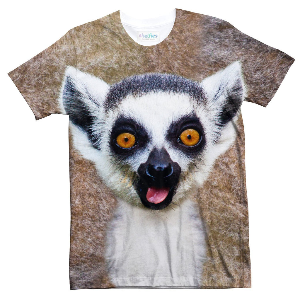 Lemur Face T-Shirt-Subliminator-| All-Over-Print Everywhere - Designed to Make You Smile