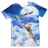 Meowy Christmas T-Shirt-Shelfies-| All-Over-Print Everywhere - Designed to Make You Smile
