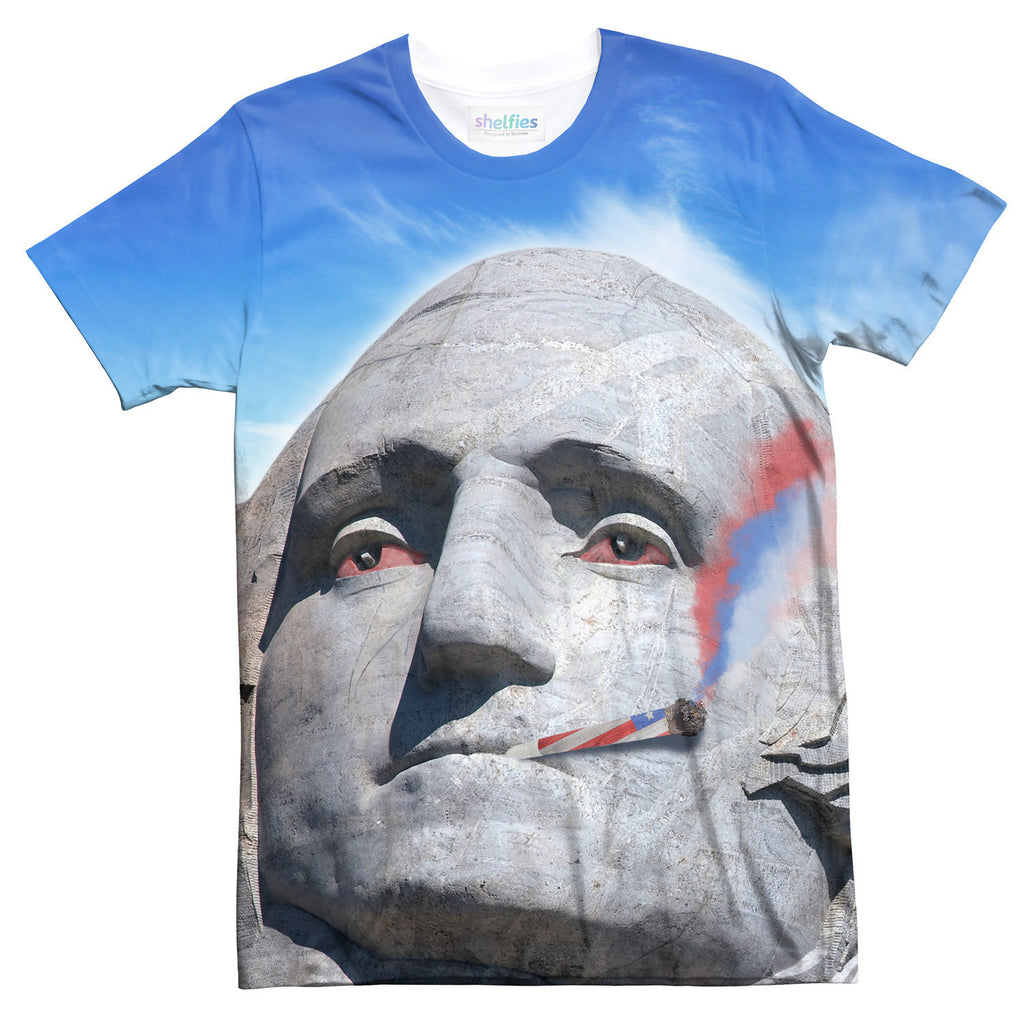 Mount Kushmore T-Shirt-kite.ly-| All-Over-Print Everywhere - Designed to Make You Smile