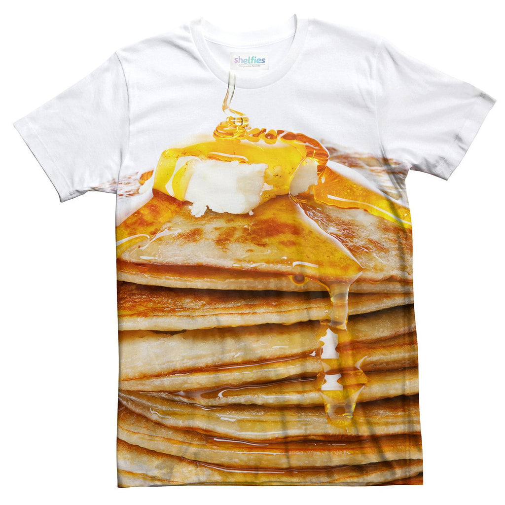Pancakes T-Shirt-Subliminator-| All-Over-Print Everywhere - Designed to Make You Smile