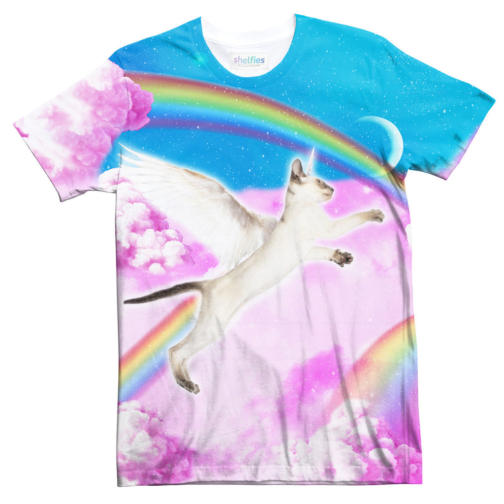 Pegasus Unikitty T-Shirt-Shelfies-| All-Over-Print Everywhere - Designed to Make You Smile