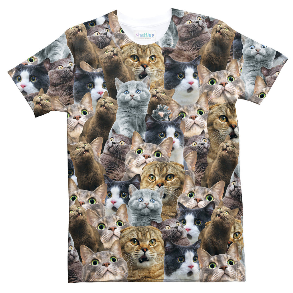 Scaredy Cat Invasion T-Shirt-Shelfies-| All-Over-Print Everywhere - Designed to Make You Smile