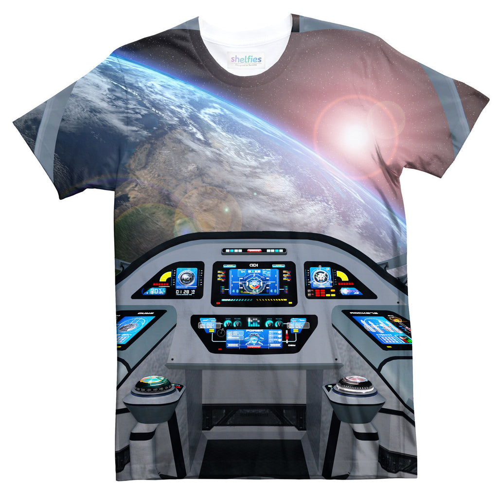 Spaceship Cockpit T-Shirt-kite.ly-| All-Over-Print Everywhere - Designed to Make You Smile