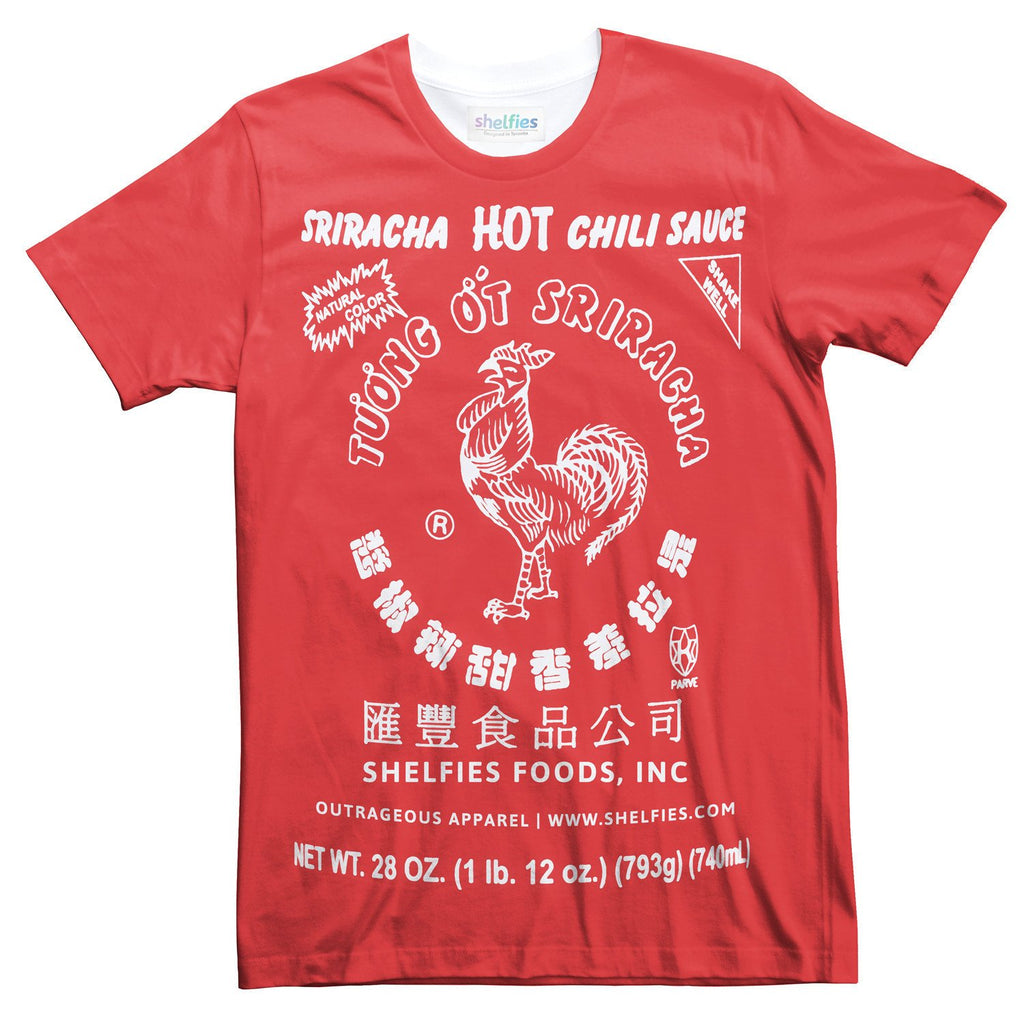 Sriracha T-Shirt-Subliminator-| All-Over-Print Everywhere - Designed to Make You Smile