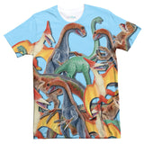 Toy Dinos T-Shirt-Shelfies-| All-Over-Print Everywhere - Designed to Make You Smile