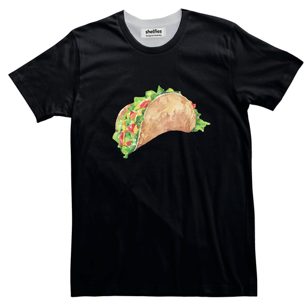 Taco Dirty To Me Basic T-Shirt-Printify-Black-S-| All-Over-Print Everywhere - Designed to Make You Smile