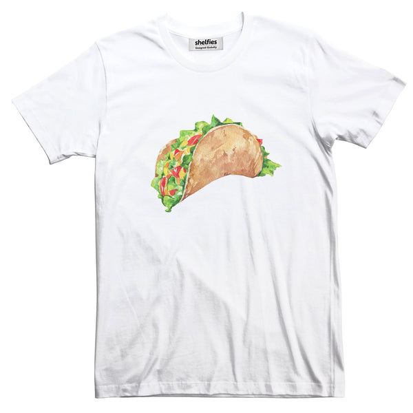 Taco Dirty To Me Basic T-Shirt-Printify-White-S-| All-Over-Print Everywhere - Designed to Make You Smile
